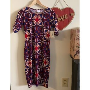 NWT LULAROE Julia Dress Sz XS
